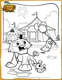 Animal Jam Carnival Coloring Page