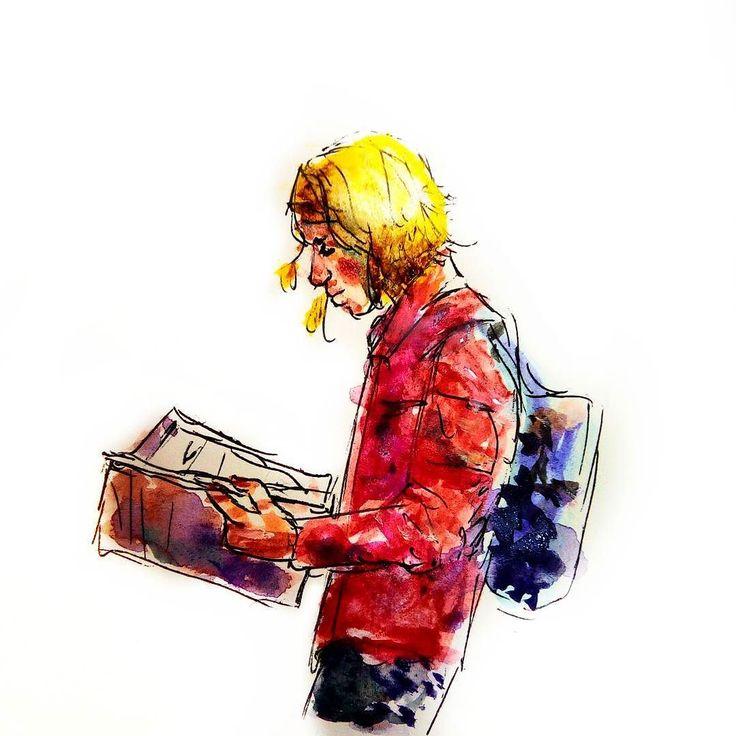 N o s e  s t u c k  i n  a  b o o k. . . . . . . #art #artoftheday #instaart #instaartist #instadraw #instadoodle #instasketch #artstagram #artist #reader #artistoninstagram  #doodle #sketch #illustration #artwork #sketchbook #sketchoftheday  #doodleoftheday #inkdrawing #ballpointpen #painting #backpack #bookworm #watercolour #pilotpen #reader #cute