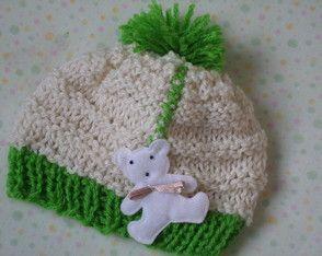 Toucas em Tricô para Bebê