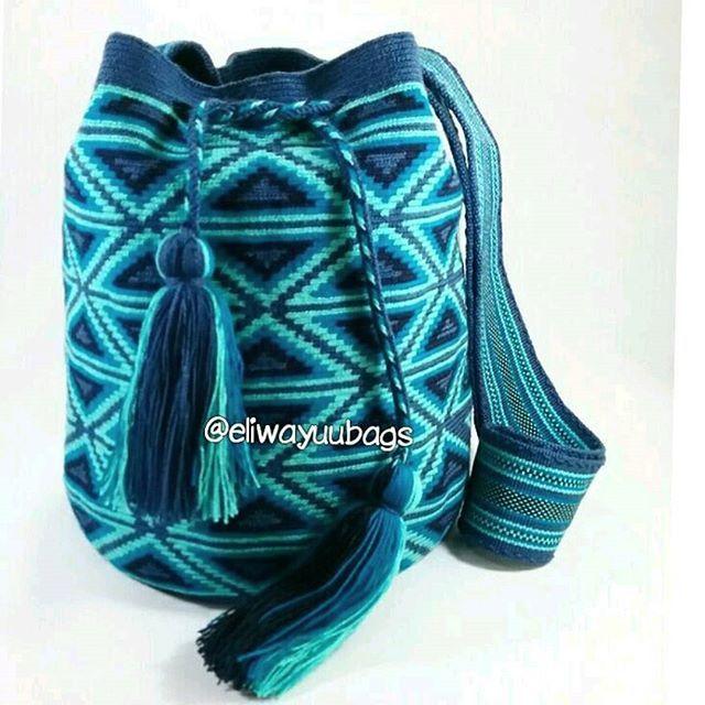 Wayuu Mochila bag bluesWhatsapp: +573006388348