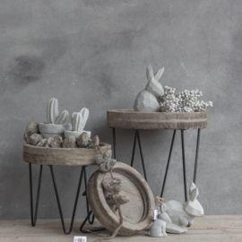 kh1629 - Tisch grau laviert mit Eisen 13x19.5cm, Preis pro 8