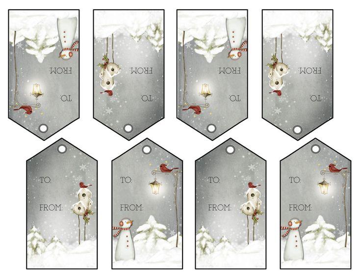 Imprimir sus propias etiquetas de regalo @ Homesteading Sentido Común