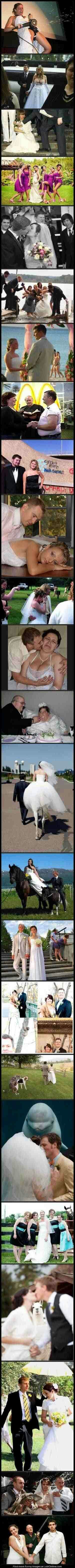 Wedding pic fails