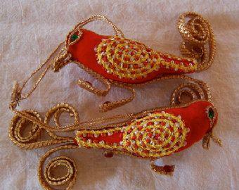 Articoli simili a Lacey uccello ornamenti - Natale decorazione, Tag, Keepsake, argilla bianca, Oggettistica per la casa su Etsy