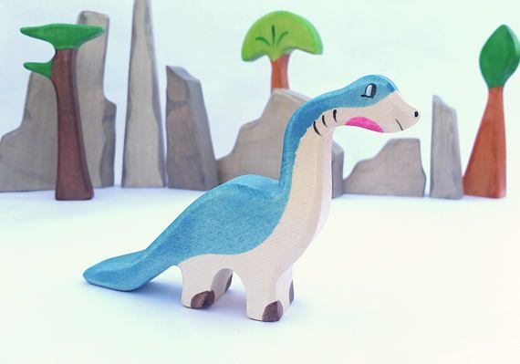 Wooden Dinosaur, Toy Set, Waldorf wood dinos, pretend play, play set, wooden toys, wooden Animals,Toys for Kids, dino toy, wooden dino
