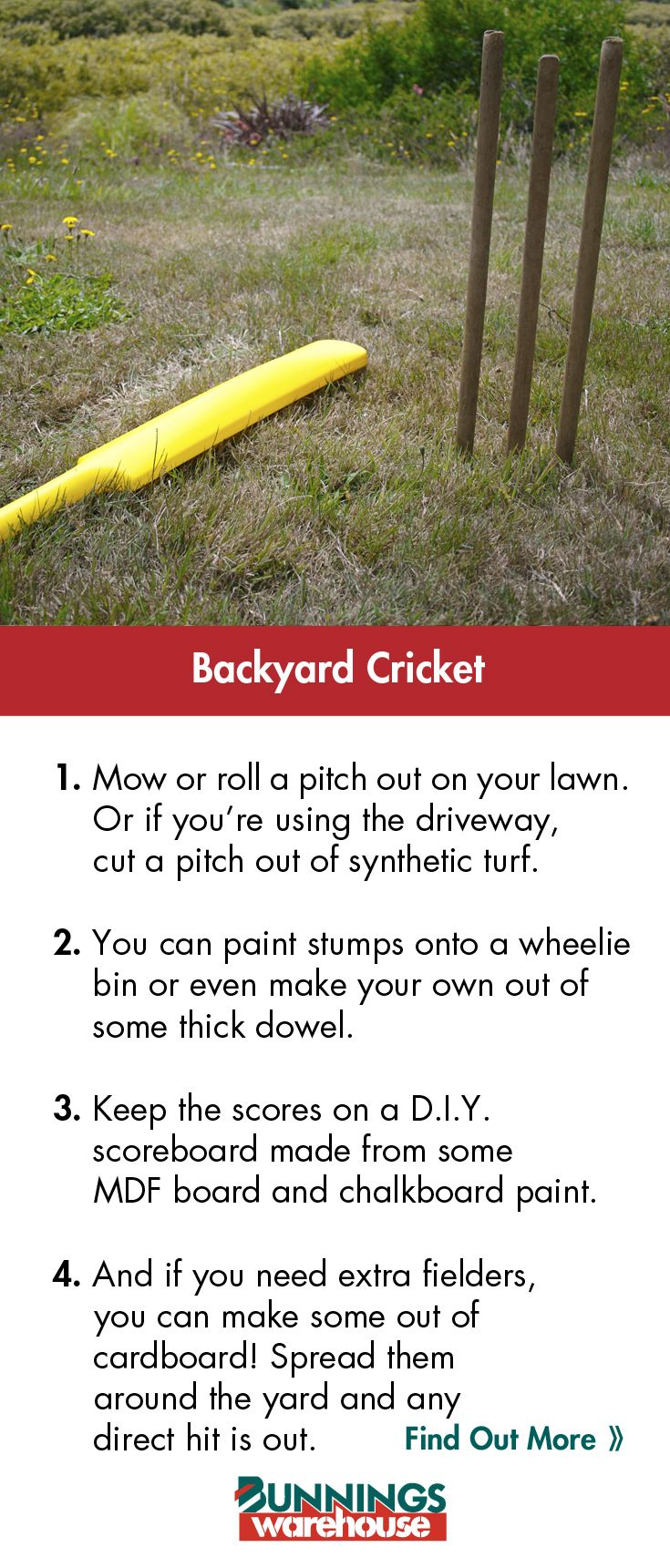 Nothing's more #Australian than a game of backyard cricket. #Summer #DIY