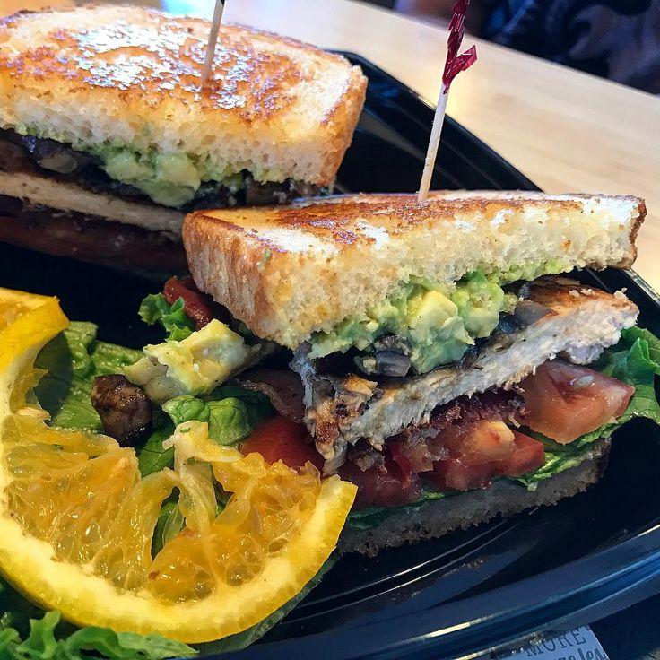 "2016""Chicken club sandwich ;mushroom avocado. -  #ChickenClubSandwich #TheHabitBurgerGrill 🐔🍞👍🏻"""