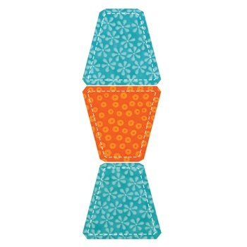 GO! Fabric Cutting Dies by AccuQuilt: Multiple Tumbler. Tumbler size is 3-5/8Wx3-1/2H inch. Three tumblers on one die. Update of the traditional tumbler shape with specially designed corners that make piecing a breeze.