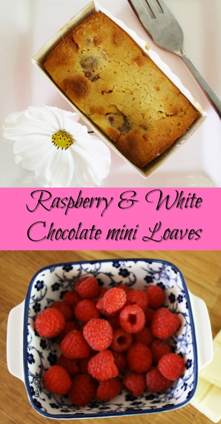 Raspberry and White Chocolate Mini Loaves. The tart berries and creamy chocolate are a delicious combination.