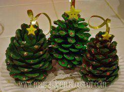 Pinecone Christmas Tree Ornaments