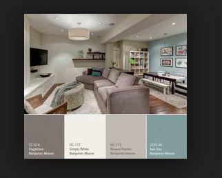 Palet. Tweede kleur van rechts in de woonkamer?