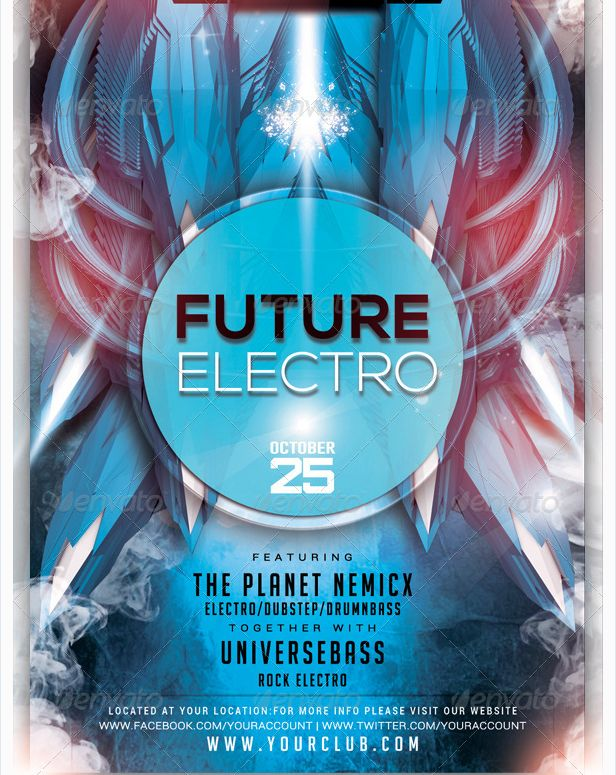 24 best Electro Night Flyer Template images – Azure Flyer Template