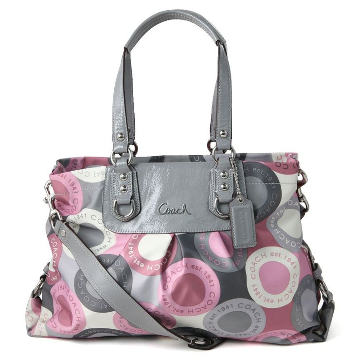 Pink/Grey Coach! | purses | Pinterest