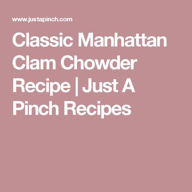... Manhattan clam chowder op Pinterest - Clam chowder soep, Clam chowder