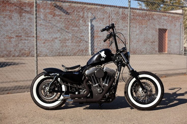 Harley Davidson Sportster 48 Bobber. [Similar to one I spent some time on. A miracle we all surived!]