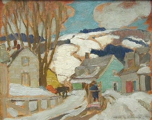 Albert H. Robinson - Late Winter Baie St. Paul 8.5 x 10.5 Oil on panel