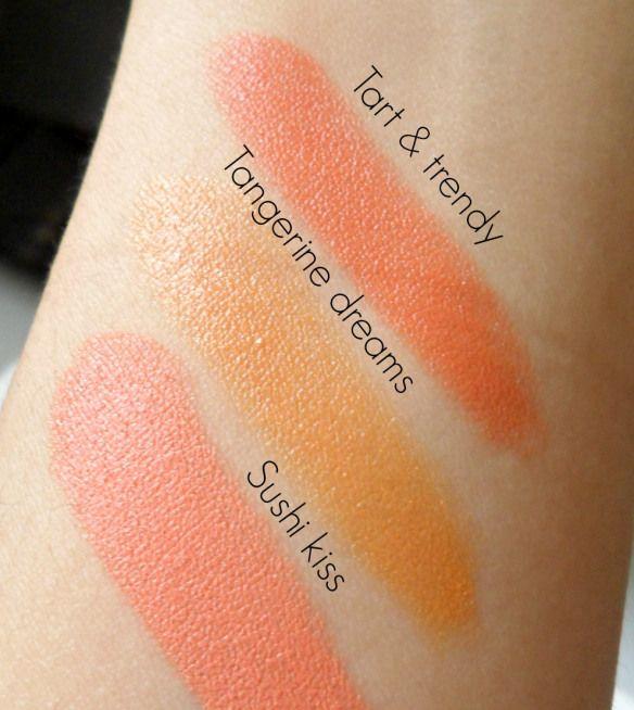 mac all about orange lipstick swatches