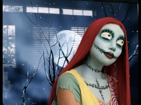 Sally (Nightmare Before Christmas) Make-up Tutorial - YouTube