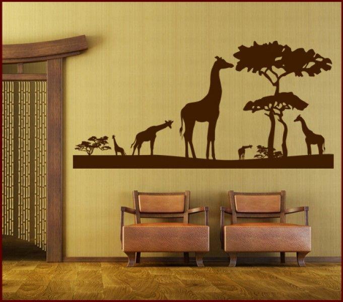 wandtattoo giraffen safari  giraffen wandtattoo safari