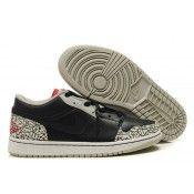 Heren nieuwe Nike Air Jordans 1 low phat zwart varsity rood wit ceHerent grijs  schoenen sale