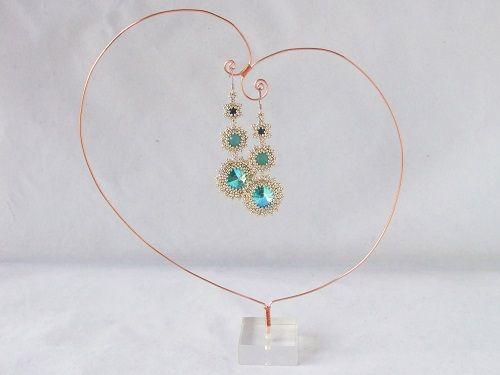 Easy Wire Work Earrings Display Tutorial ~ The Beading Gem's Journal