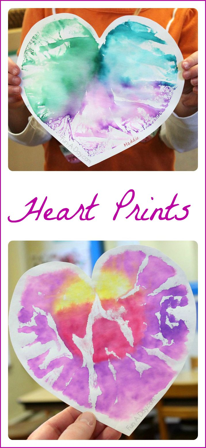 Heart Prints - a process-based valentine art project that yields a beautiful result.