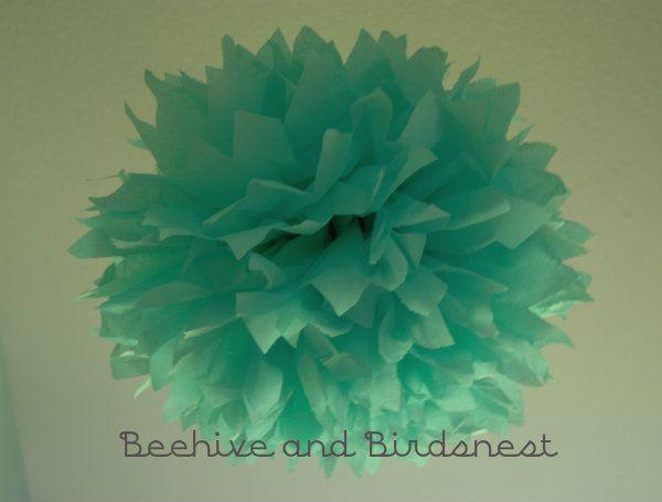 Wonderful Tissue Paper Pom Flower Tutorial: Potential Shower, Flower Tutorial, Pom Pom