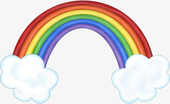 كرتون سبعة ألوان قوس قزح Rainbow Clipart Rainbow Rainbow Baby Announcement