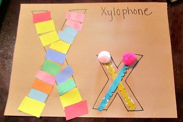 Preschool Letter X Activity: X is for Xylophone | Evolving