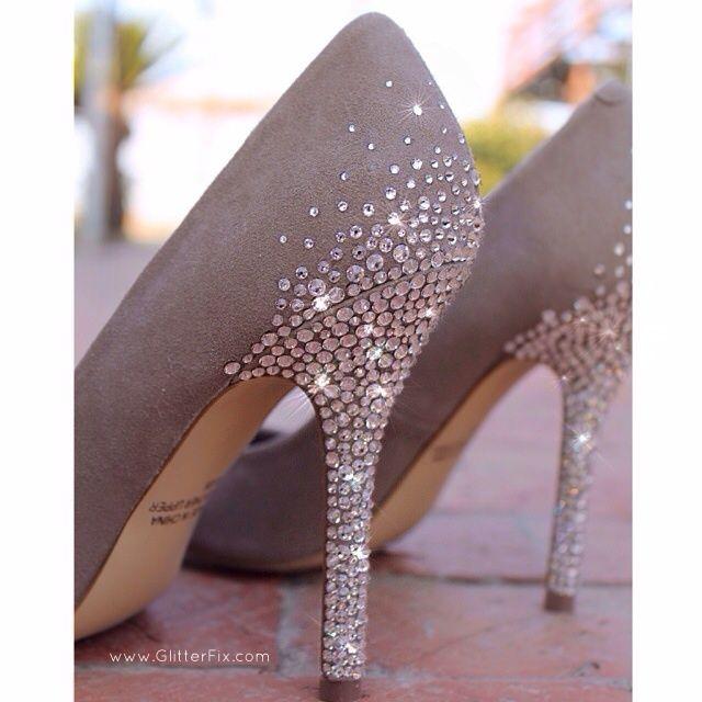Customized Heels w/Swarovski Rhinestones / Glitterfix