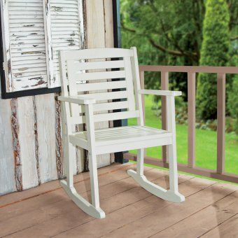 #design3000 Lässiger Schaukelstuhl für drinnen und draußen.
