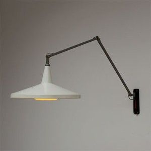 Wall mounted swing arm lamp (Panama lamp model nr. 4050) - Rietfeld