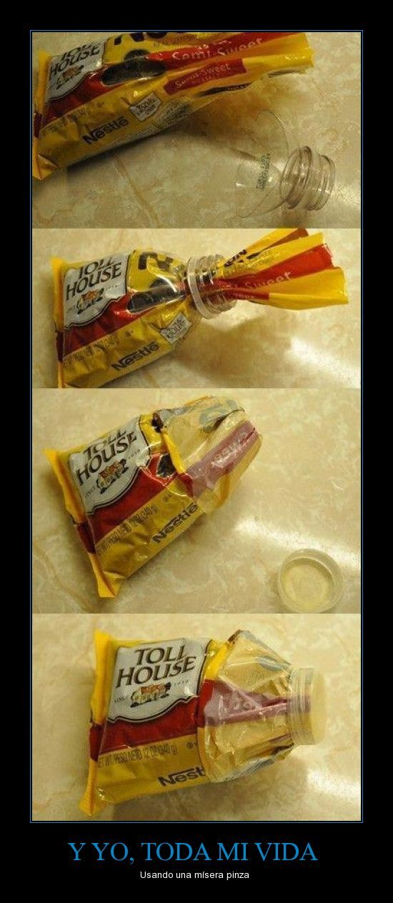 Seal open bags like a boss.: Plastic Bottle, Ideas, Water Bottle, Craft, Bag, Food, Life Hacks, Diy