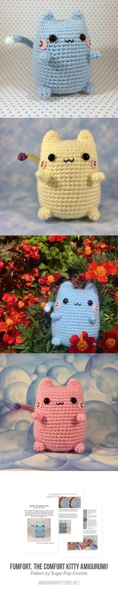 Fumfort, The Comfort Kitty Amigurumi! Amigurumi Pattern
