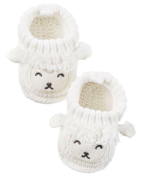 Lamb Crocheted Booties