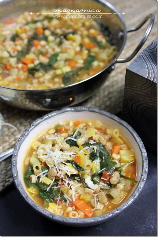 Seven Vegetable Minestrone Soup Phase 1 & 3- Phase 1 omit oil & use some broth instead, both Phases omit corn & cheese