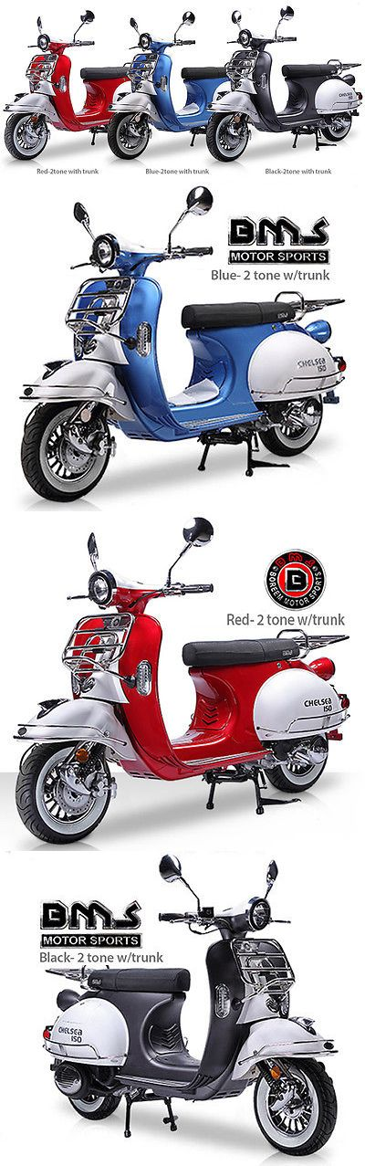 motorcycles And scooters: New Vintage Bms Chelsea 150Cc Moped Gas Scooter Bike Retro Motorcycle Free Ship! -> BUY IT NOW ONLY: $1699.0 on eBay!