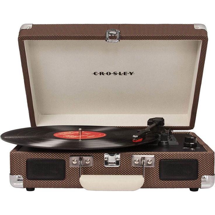 Vitrola Portátil Crosley Cruiser - Marrom -Eletrônicos - Toca discos - Walmart.com