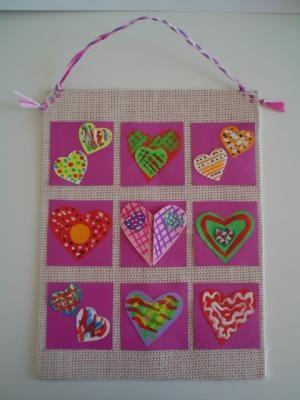Bastelideen/basteln-Muttertag-Herzchenbild craft Ideas Mothersday Heart Picture