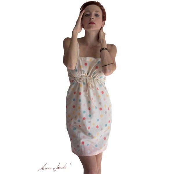 Šaty bavlněné s puntíkem - Anna Janska Shop