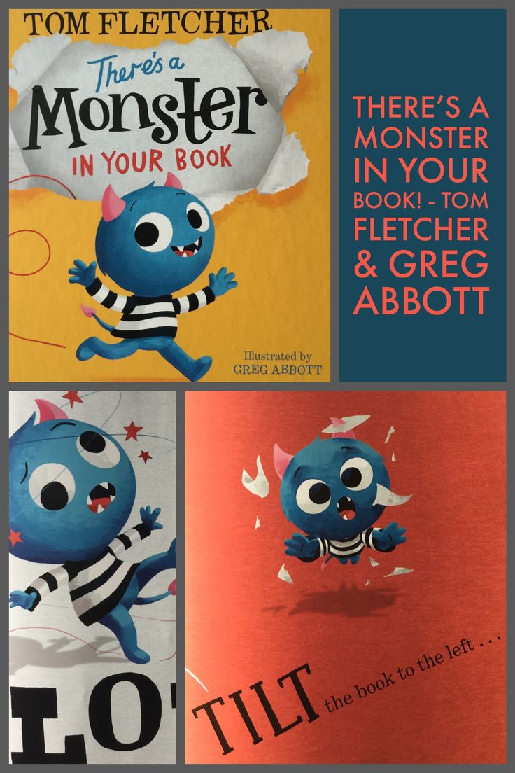 There's a Monster in Your Book By Tom Fletcher and Greg Abbott. How do you get rid of a Monster from your book?! Children's books about books. #childrensbooks #kidsbookstagram #picturebooks