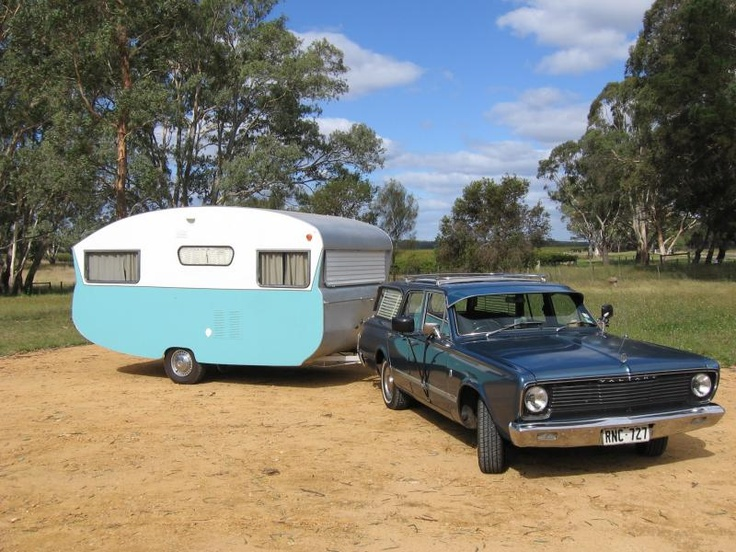 60s Globetrotter vintage caravan.