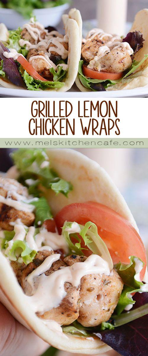 Grilled Lemon Chicken Wraps with Spicy Garlic Sauce
