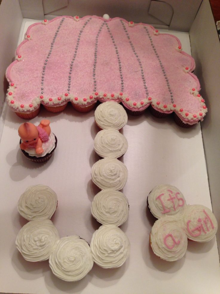 Baby sprinkle cupcake umbrella