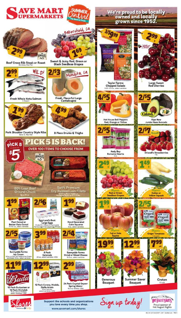 Save Mart Weekly ad July 26 - August 1, 2017 - http://www.olcatalog.com/save-mart/save-mart-weekly-ad.html