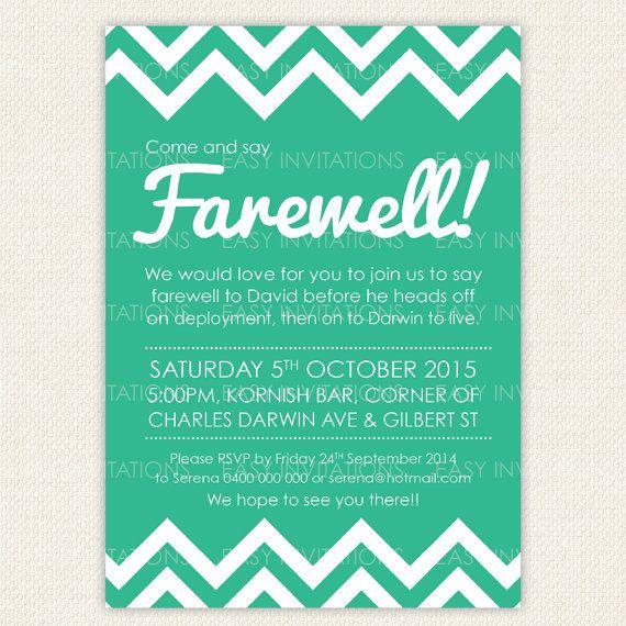 Best 25+ Farewell invitation ideas only on Pinterest   Farewell ...