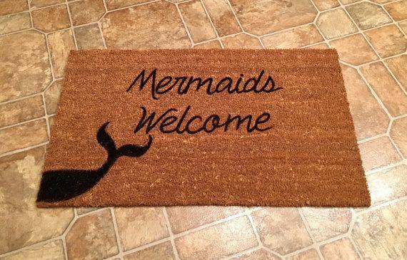 Custom Door Mat Mermaids Welcome Door Mat by ToniAnnsBellaArte