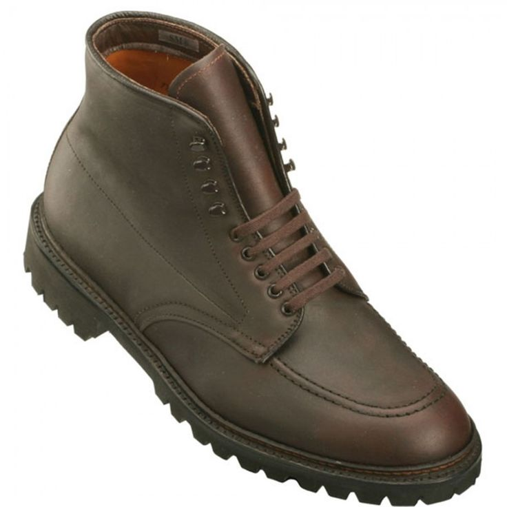 Alden Men's 404 - Indy Boot High Top Blucher Workboot - Dark Brown Kudu