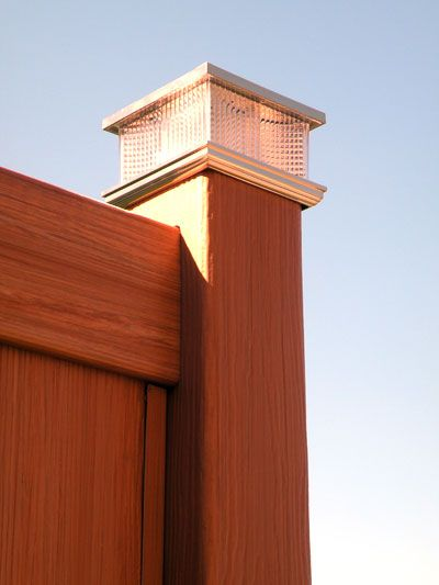 Post Lights That You Install On Your Fence Or Deck Usually