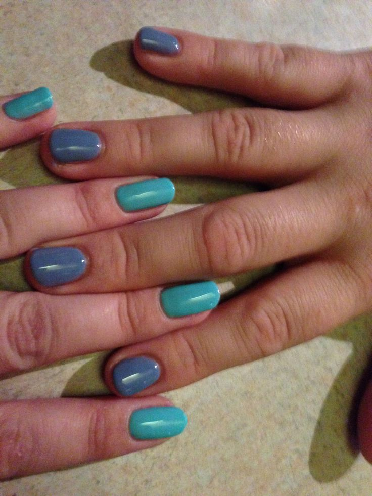 Newest colours to my collection Butterfly Blue and Monsoon Rain